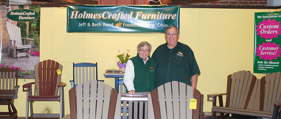 jeff and beth reed of holmescrafted furniture