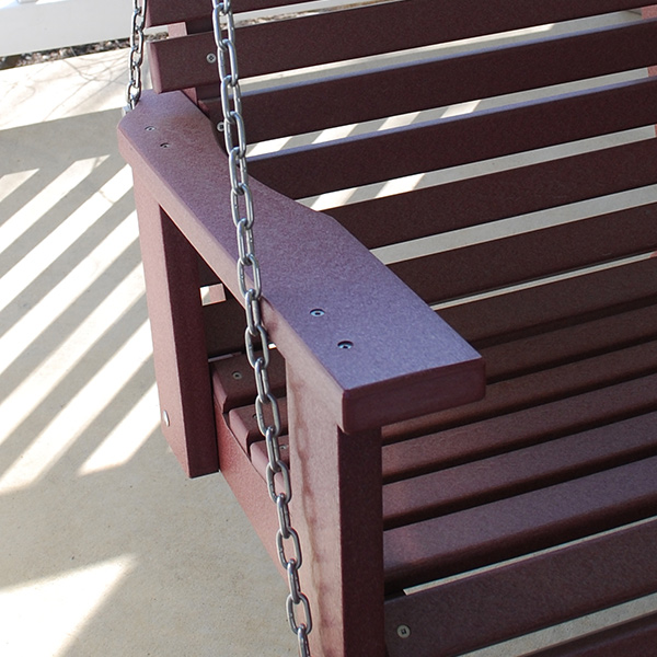 closeup of rollbach swing arm and chain