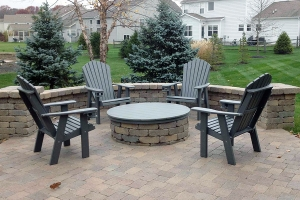 adirondack gs chairs w/ cupholders shown in green