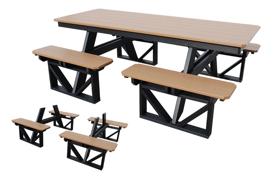 7ft walk in table