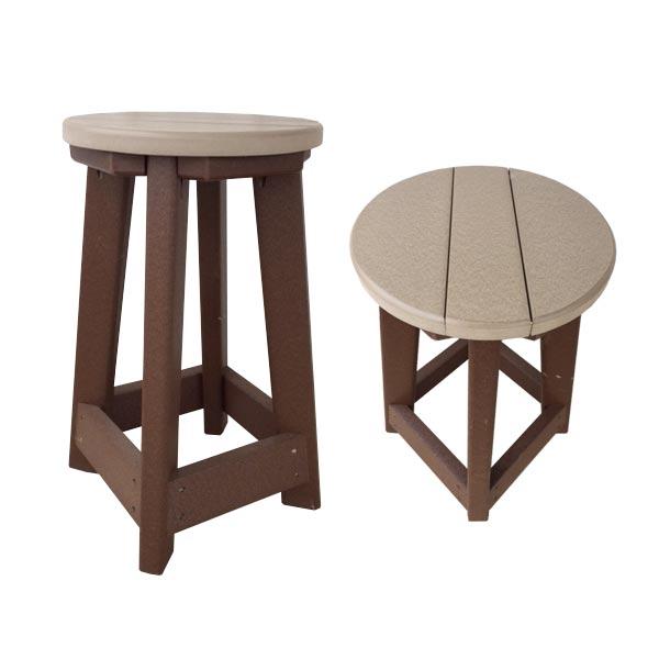 bar stool shown in weatherwood on brown