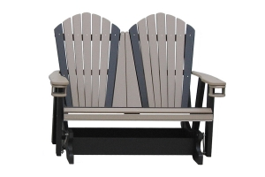 4ft adirondack glider with cupholders