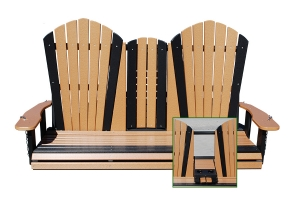 5ft adirondack fold down swing
