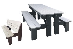 five foot poly table bench