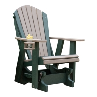 2ft adirondack glider with cupholder