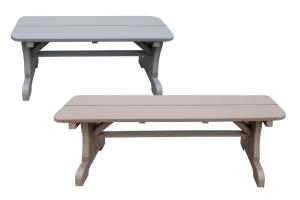 rectangular benches without backs